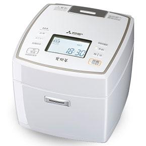 三菱 NJ-VX109-W(ピュアホワイト) 炭炊釜 ジャー炊飯器 5.5合