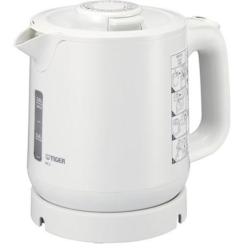 タイガー魔法瓶 PCJ-H081-W(ホワイト) わく子 業務用蒸気レス電気ケトル 0.8L