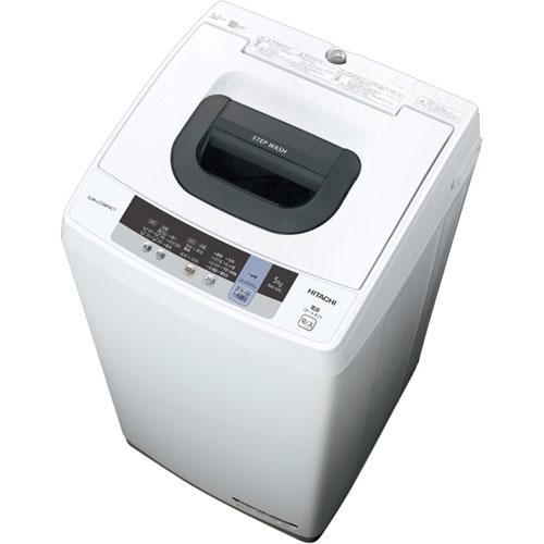 日立 NW-50C-W(ピュアホワイト) 全自動洗濯機 上開き 洗濯5kg
