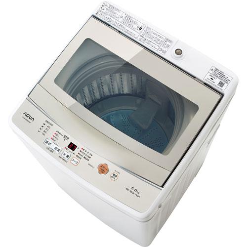 【設置+リサイクル】アクア AQW-GS50G-W(ホワイト) 全自動洗濯機 上開き 洗濯5kg