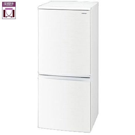 【設置+リサイクル】シャープ SJ-D14E-W(ホワイト) 2ドア冷蔵庫 左右付替タイプ 137L