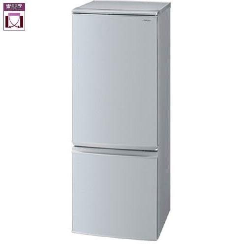 【設置+リサイクル】シャープ SJ-D17E-S(シルバー) 2ドア冷蔵庫 両開き 167L