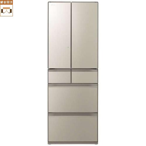 【標準設置料金込】【送料無料】日立 R-HX52N-XN(ファインシャンパン) HXシリーズ 6ドア冷蔵庫 観音開き 520L[代引・リボ・分割・ボーナス払い不可]