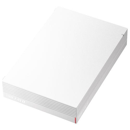 バッファロー HD-LDS4.0U3-WA(ホワイト) USB 3.1(Gen 1) /USB 3.0 外付ハードディスク 4TB