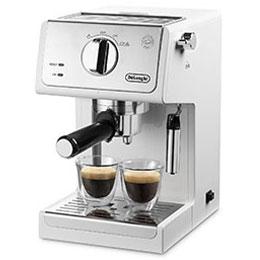 【長期保証付】デロンギ ECP3220J-W(トゥルー ホワイト) コーヒーメーカー アクティブ