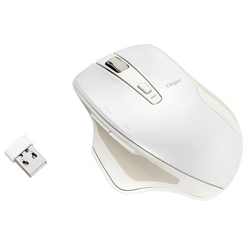 ナカバヤシ MUS-RKF155W(ホワイト) 無線静音5ボタンBlueLEDマウス
