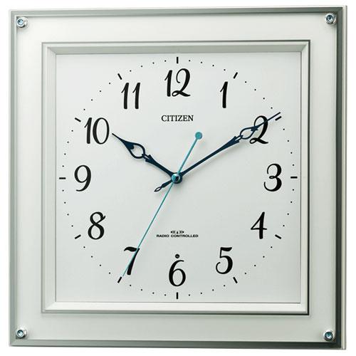 リズム時計 8MY519-003(白) 電波掛け時計