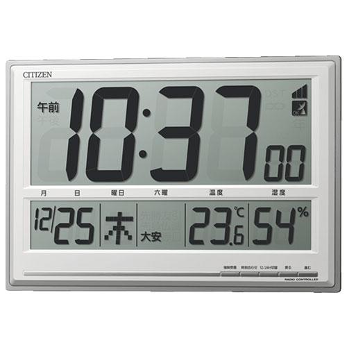 リズム時計 8RZ199-019(シルバーメタリック) 電波掛け時計