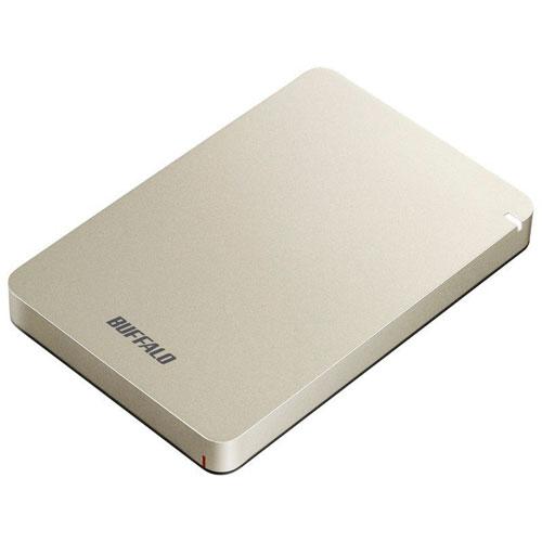 バッファロー HD-PGF1.0U3-GLA(ゴールド) ポータブルHDD 1TB USB3.1(Gen1) /3.0/2.0接続 耐衝撃