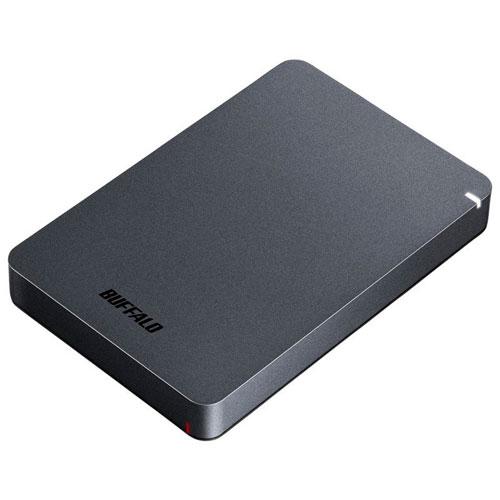 バッファロー HD-PGF2.0U3-BBKA(ブラック) ポータブルHDD 2TB USB3.1(Gen1) /3.0/2.0接続 耐衝撃