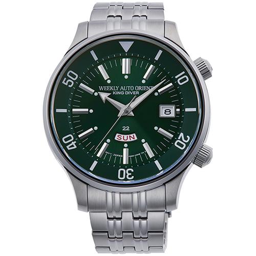 【長期保証付】オリエント RN-AA0D03E(グリーン) REVIVAL(リバイバル) 自動巻き(手巻き付き) 腕時計(メンズ)
