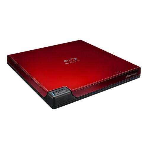 パイオニア BDR-AD07R(レッド) ポータブルブルーレイドライブ 簡易パッケージ