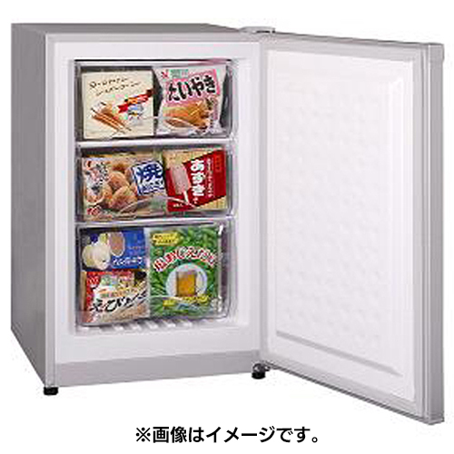 【設置+リサイクル+長期保証】三ツ星貿易 MA-6086(シルバーグレー) Excellence(エクセレンス) アップライト型冷凍庫 86L