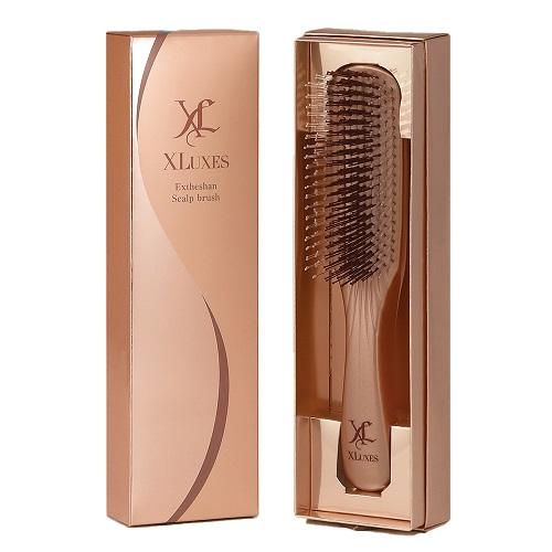エックスワン XLUXES エグゼティシャン スカルプブラシ 2段植毛 頭皮ケア ヘアケア 血行促進