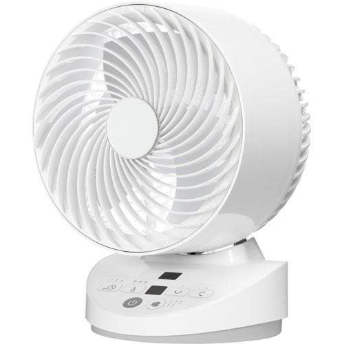 山善 YAR-BDA181-W(ホワイト) 18cm 温度センサー搭載DCサーキュレーター 静音 立体首振 リモコン付