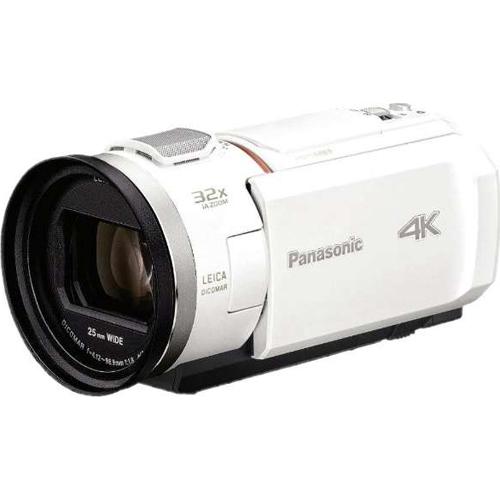 【送料無料】【在庫あり】14時までの注文で当日出荷可能! パナソニック HC-VX2M-W(ピュアホワイト) デジタル4Kビデオカメラ 64GB