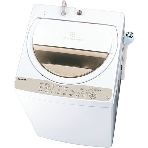 【送料無料】【在庫あり】14時までの注文で当日出荷可能! 東芝 AW-6G8-W(グランホワイト) 全自動洗濯機 上開き 洗濯6kg 風乾燥 1.3kg