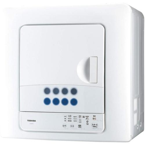 【長期保証付】東芝 ED-608-W(ピュアホワイト) 衣類乾燥機 6kg