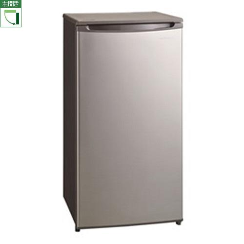 【設置+長期保証】三ツ星貿易 SKM85F(シルバーグレー) 1ドア冷凍庫 右開き 85L