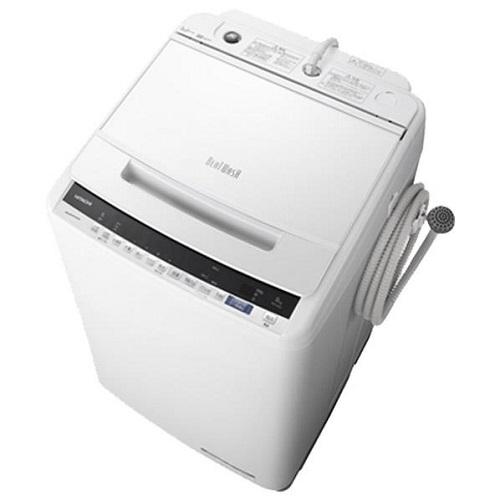 【設置+長期保証】日立 BW-V80E-W(ホワイト) ビートウォッシュ 全自動洗濯機 上開き 洗濯8kg