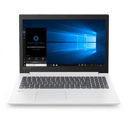 【長期保証付】Lenovo 81DE02MSJP(ブリザードホワイト) Lenovo IdeaPad 330 15.6型 Celeron 3867U搭載