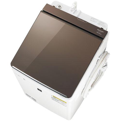 【標準設置料金込】【送料無料】シャープ ES-PT10D-T(ブラウン) タテ型洗濯乾燥機 上開き 洗濯10kg/乾燥5kg[代引・リボ・分割・ボーナス払い不可]