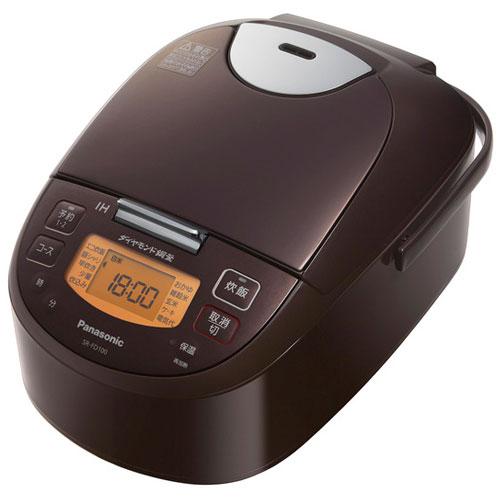 【長期保証付】パナソニック SR-FD100-T(ブラウン) IHジャー炊飯器 5.5合