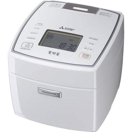 【送料無料】 【長期保証付】三菱 NJ-VVA10-W(ピュアホワイト) 備長炭 炭炊釜 IH炊飯器 5.5合