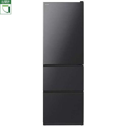 【標準設置料金込】【長期保証付】【送料無料】日立 HITACHI R-V38NV-K(ブリリアントブラック) Vタイプ 3ドア冷蔵庫 右開き 375L RV38NVK[代引・リボ・分割・ボーナス払い不可]