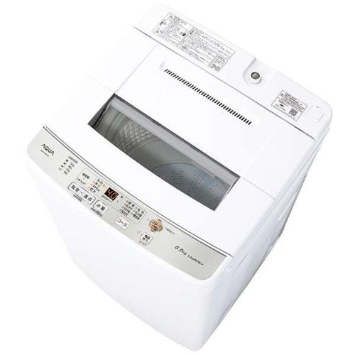 設置 最新 リサイクル 長期保証 (人気激安) アクア AQW-S60J-W 上開き 全自動洗濯機 ホワイト 洗濯6kg