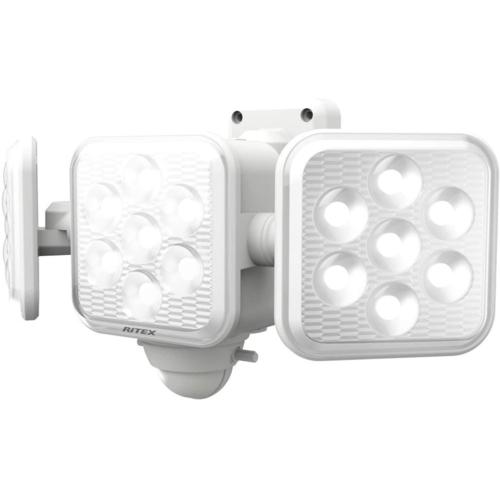 在庫あり 14時までの注文で当日出荷可能 ムサシ 5W×3灯 フリーアーム式LED乾電池センサーライト LED-320 店 時間指定不可