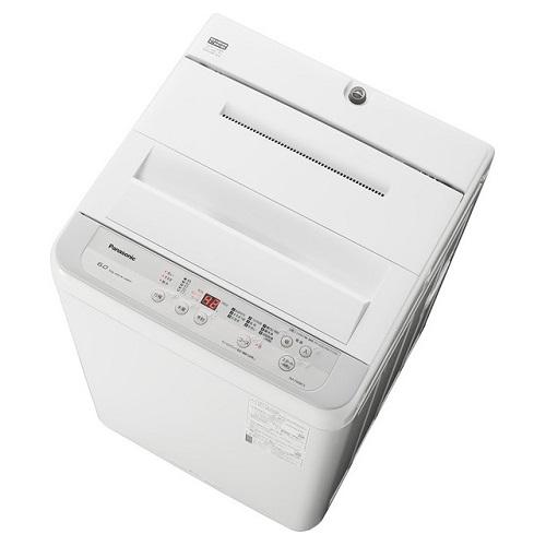 パナソニック NA-F60B13-S(シルバー) 全自動洗濯機 上開き 洗濯6kg/乾燥2kg