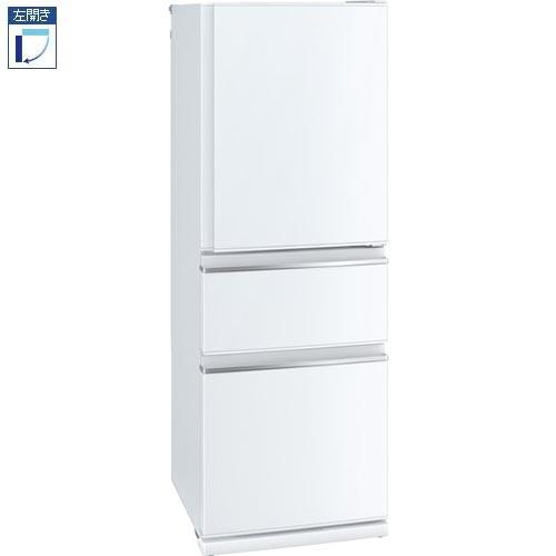 【標準設置料金込】三菱 MR-CX33EL-W(パールホワイト) CXシリーズ 3ドア冷蔵庫 左開き 330L[代引・リボ・分割・ボーナス払い不可]
