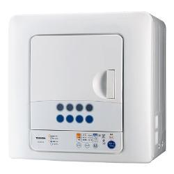 【設置+リサイクル】東芝 ED-60C-W(ピュアホワイト) 衣類乾燥機 6.0kg