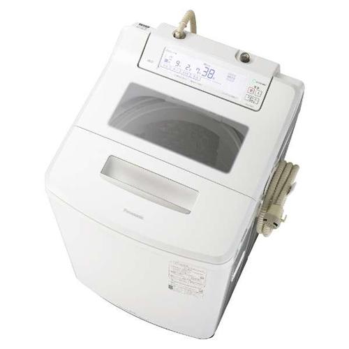 【設置】パナソニック NA-JFA807-W(クリスタルホワイト) 全自動洗濯機 上開き 洗濯8kg