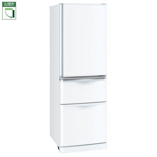 【標準設置料金込】【長期保証付】【送料無料】三菱 MR-C37E-W(パールホワイト) Cシリーズ 3ドア冷蔵庫 右開き 370L[代引・リボ・分割・ボーナス払い不可]