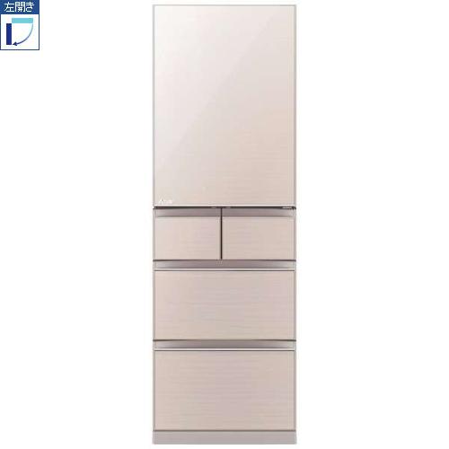 【標準設置料金込】【送料無料】三菱 MR-B46FL-F(クリスタルフローラル) Bシリーズ 5ドア冷蔵庫 左開き 455L[代引・リボ・分割・ボーナス払い不可]