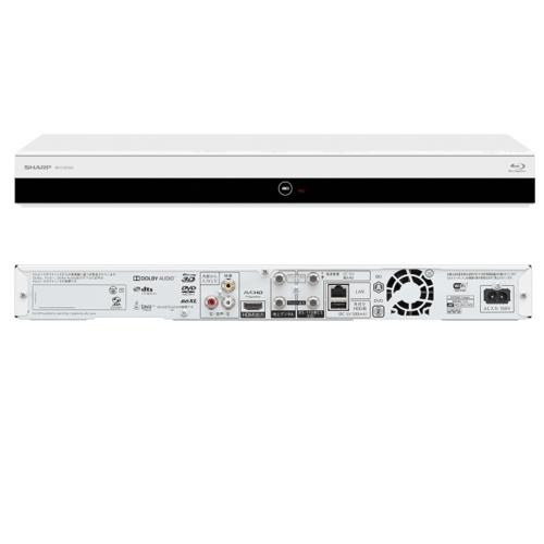 シャープ 2B-C10CW2(ホワイト) AQUOS ブルーレイディスクレコーダー ダブルチューナー 1TB