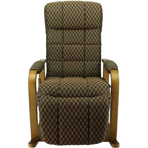 S1YO-1655G7N-KOC(ブラウン) レバー付 リラックス高座椅子 オットマン付 高さ調節有