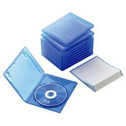 エレコム CCD-BLU110CBU 安値 クリアブルー Blu-rayディスクケース 国内正規品 1枚収納 10セット