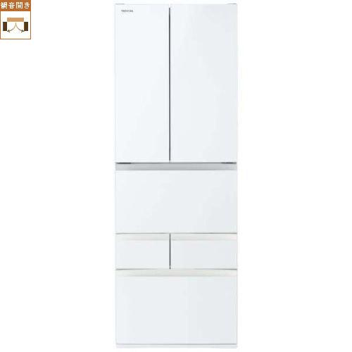 【標準設置料金込】【送料無料】東芝 GR-S510FH-EW(グランホワイト) FHシリーズ 6ドア冷蔵庫 観音開き 509L[代引・リボ・分割・ボーナス払い不可]