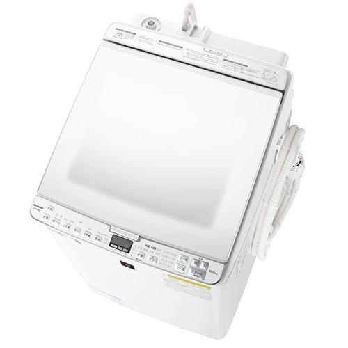 【標準設置料金込】【長期保証付】【送料無料】シャープ ES-PX8E-W(ホワイト系) タテ型洗濯乾燥機 上開き 洗濯8kg/乾燥4.5kg[代引・リボ・分割・ボーナス払い不可]