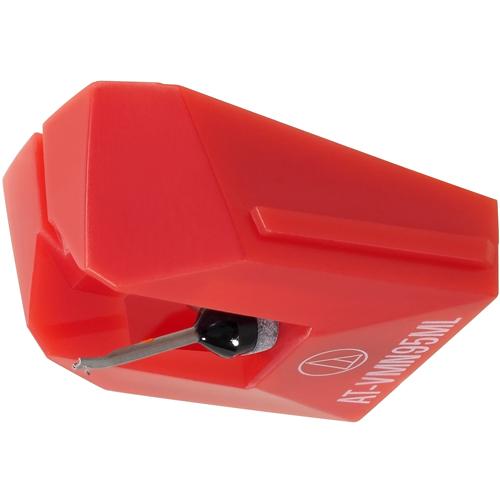 オーディオテクニカ AT-VMN95ML VM型(デュアルムービングマグネット) ステレオカートリッジ レッド 交換針