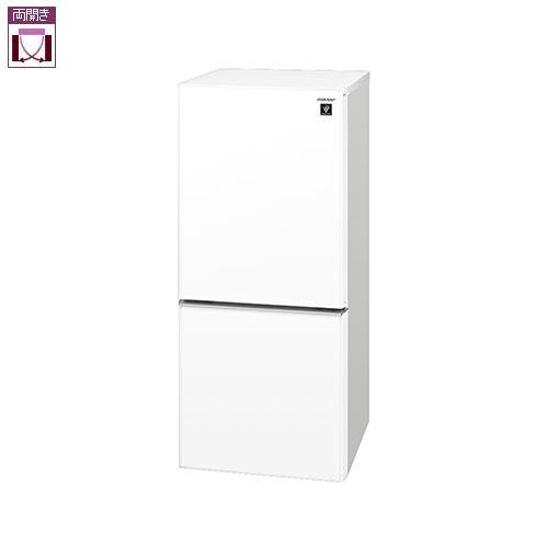 シャープ SJ-GD14F-W(クリアホワイト) 2ドア冷蔵庫 左右付替タイプ 137L