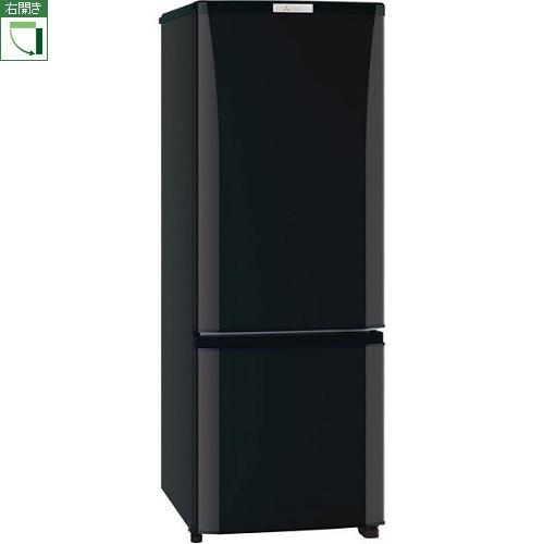 【設置+リサイクル+長期保証】三菱 MR-P17E-B(サファイアブラック) Pシリーズ 2ドア冷蔵庫 右開き 168L