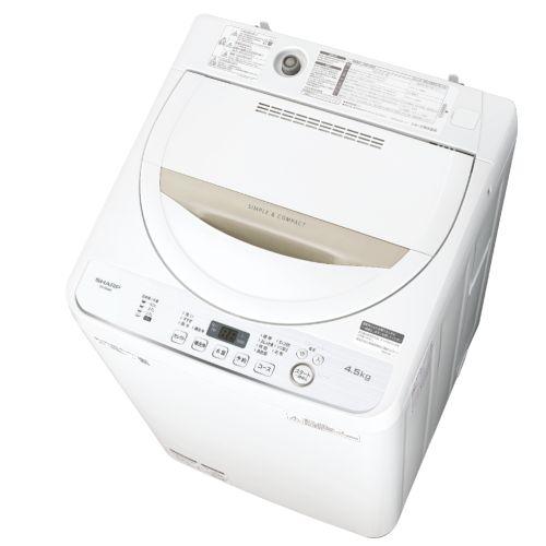 【設置+リサイクル+長期保証】シャープ ES-GE4D-C(ベージュ系) 全自動洗濯機 上開き 洗濯4.5kg