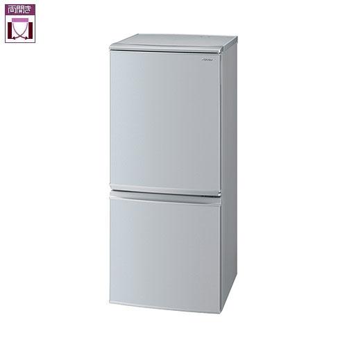 【設置+リサイクル】シャープ SJ-D14F-S(シルバー系) 2ドア冷蔵庫 左右付替タイプ 137L