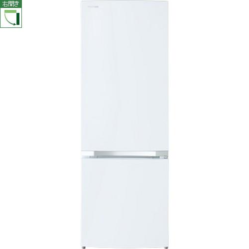 【設置+リサイクル】東芝 GR-R17BS-W(セミマットホワイト) BSシリーズ 2ドア冷蔵庫 右開き 170L
