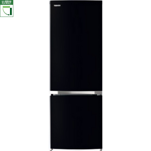 【設置+リサイクル(別途料金)+長期保証】東芝 GR-R17BS-K(セミマットブラック) BSシリーズ 2ドア冷蔵庫 右開き 170L