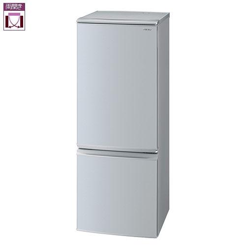 【設置】シャープ SJ-D17F-S(シルバー系) 2ドア冷蔵庫 左右付替タイプ 167L